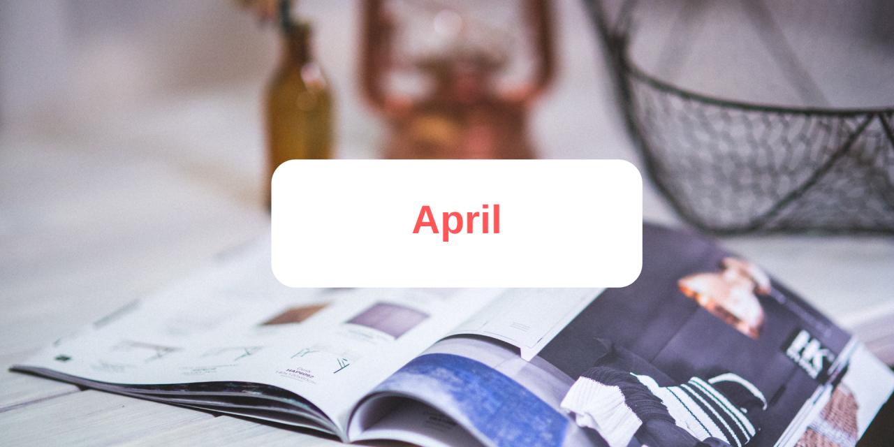 In The Press: April 2019
