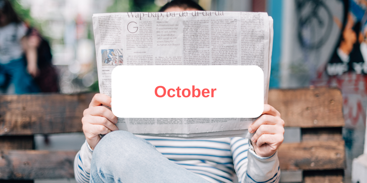 In the press: October 2019